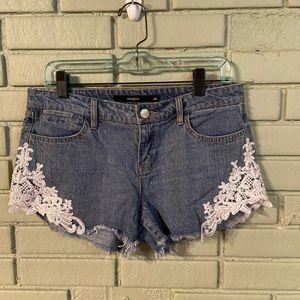 Harper Jean Shorts with Lace 28